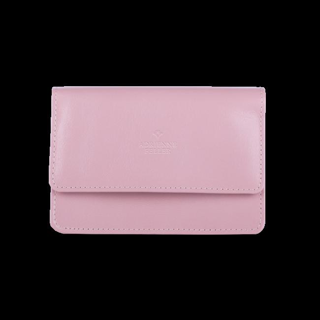 Neszesszer - pasztell rózsaszín színű, bőr, Útitárs szetthez